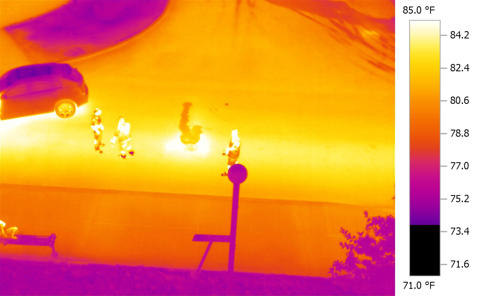 Infrared Inspection Services of Underground Steam or Liquid Pipe leaks.